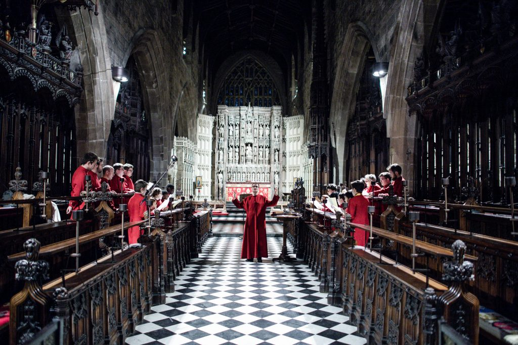 Choral Evensong Quire and High Alter