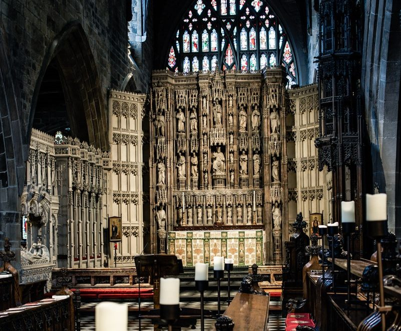 High Altar Screen, viewed from the Quire